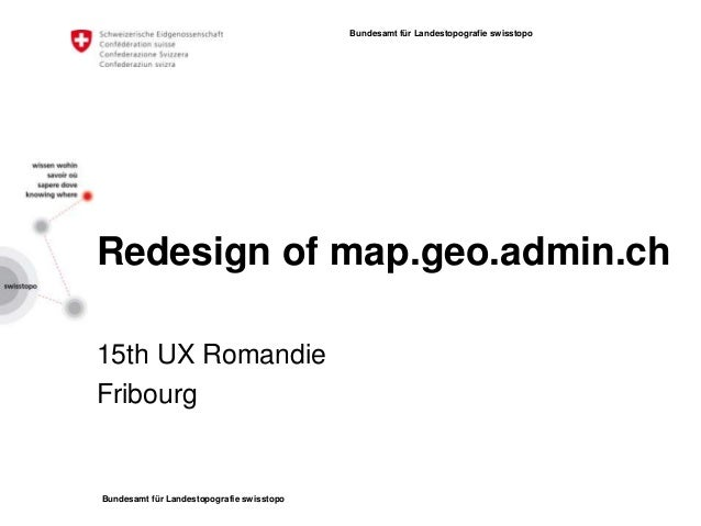 Redesign of map.geo.admin.ch - 2013