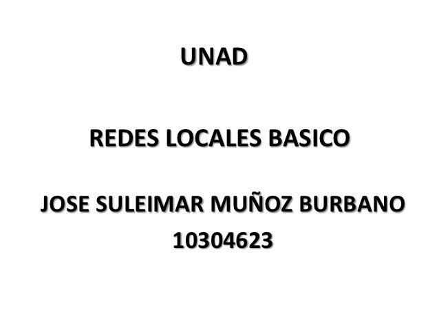 UNAD   REDES LOCALES BASICOJOSE SULEIMAR MUÑOZ BURBANO           10304623