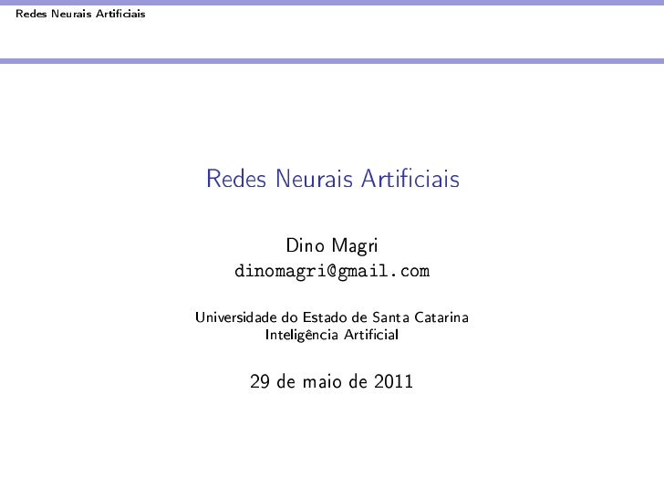 RNA - Redes neurais artificiais
