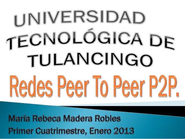 Redes peer to peer p2 p