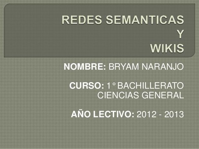 Redes semanticas y wikis