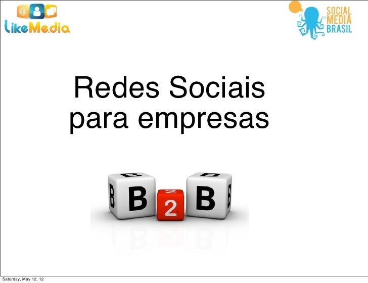 Redes sociais para empresas B2B
