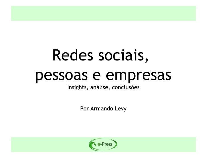 Redes Sociais, Pessoas e Empresas