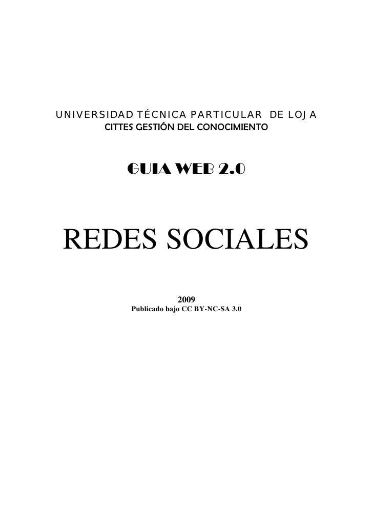 UNIVERSIDAD TÉCNICA PARTICULAR DE LOJA        CITTES GESTIÓN DEL CONOCIMIENTO                                          GU...
