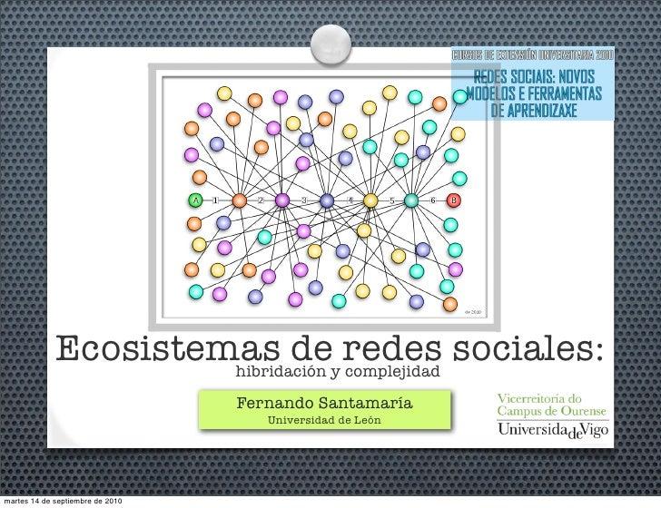 Ecosistema de Redes Sociales: hibridación y complejidad