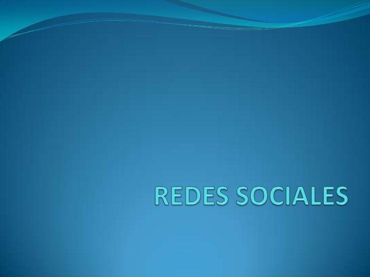 REDES SOCIALES <br />
