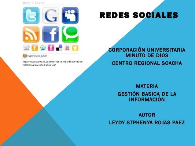 REDES SOCIALES                                                     CORPORACIÓN UNIVERSITARIA                              ...