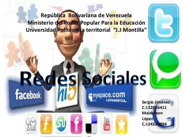 "República Bolivariana de VenezuelaMinisterio del Poder Popular Para la EducaciónUniversidad Politécnica territorial ""J.J M..."