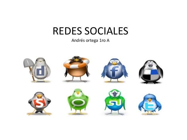 REDES SOCIALES   Andrés ortega 1ro A