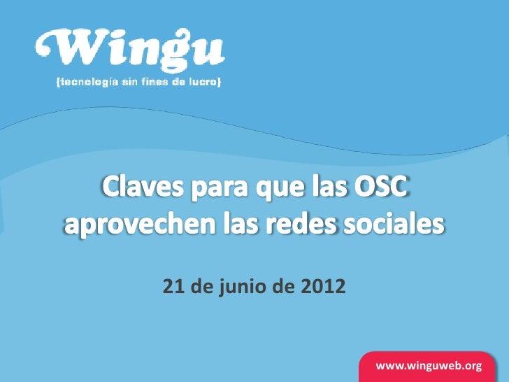 21 de junio de 2012                      www.winguweb.org                       www.winguweb.org