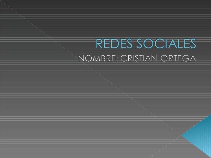 Redes sociales cristian ortega primero bolivar