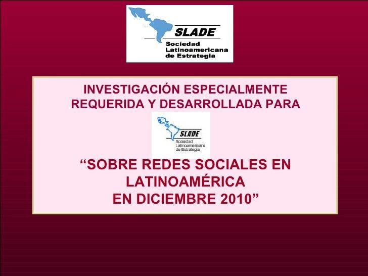 Redes sociales,investigación 12 2010