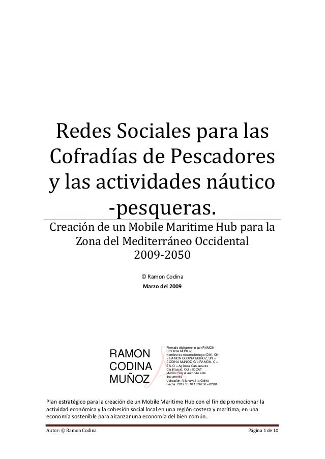 Redes Sociales para las Cofradías de Pescadores y las actividades náutico        -pesqueras. Creación de un Mobile Maritim...