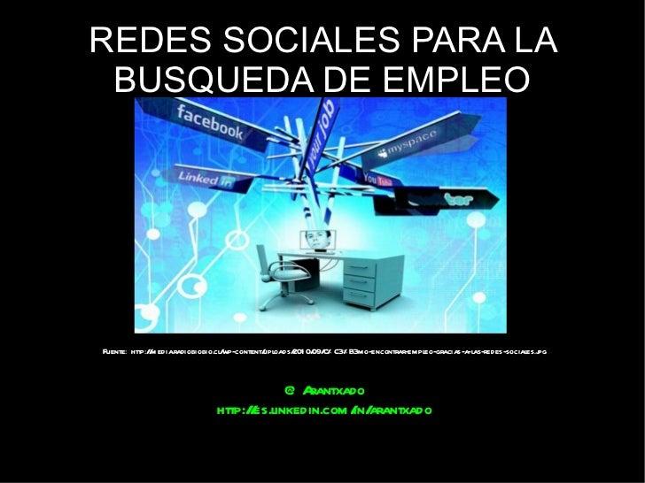 Redes sociales para la busqueda de empleo