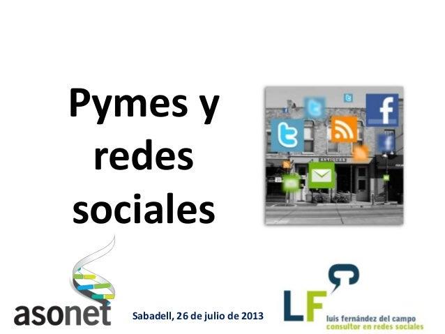 Redes sociales para pymes - I Foro Empresarial Social Media