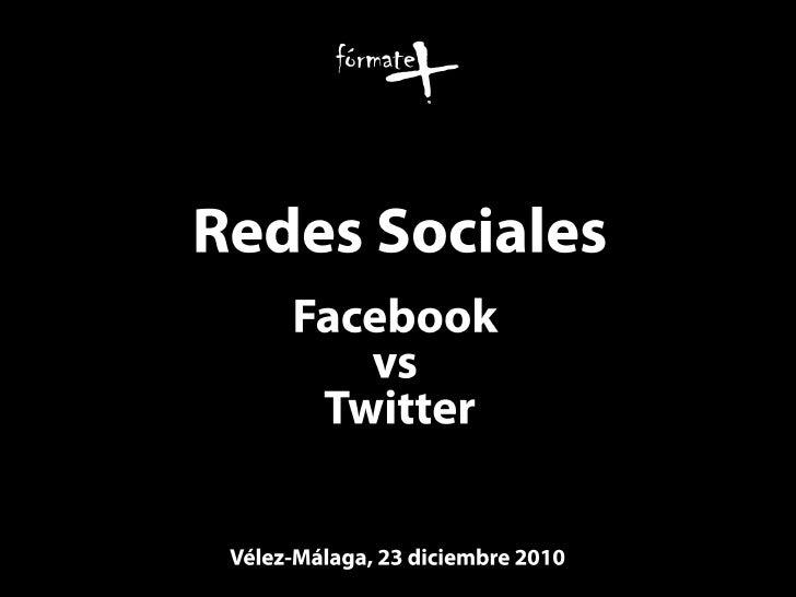 Redes sociales | Facebook vs Twitter