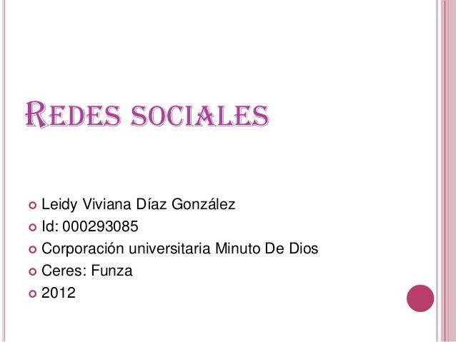Redes sociales presentacion