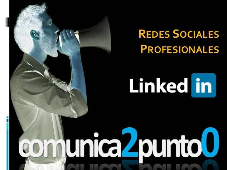 Redes sociales profesionales: LINKEDIN