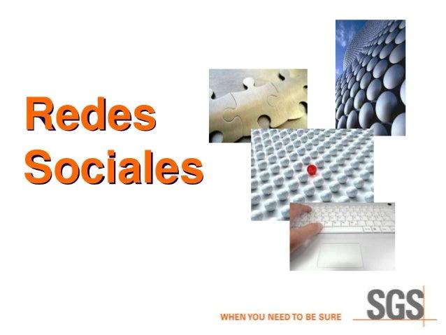 Curso de Redes Sociales para SGS (1/5)