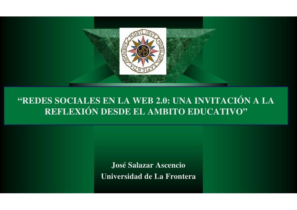 Redes Sociales Web20 Panel De Expertos Jose Salazar Ascencio