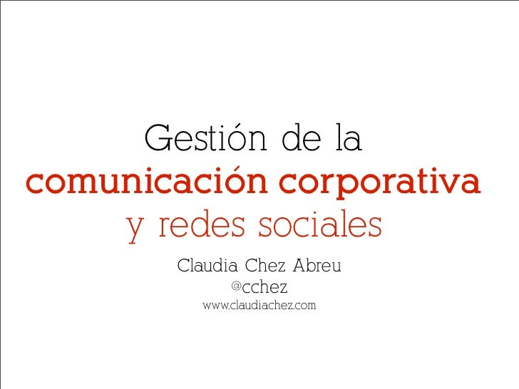 Redes sociales y comunicación corporativa