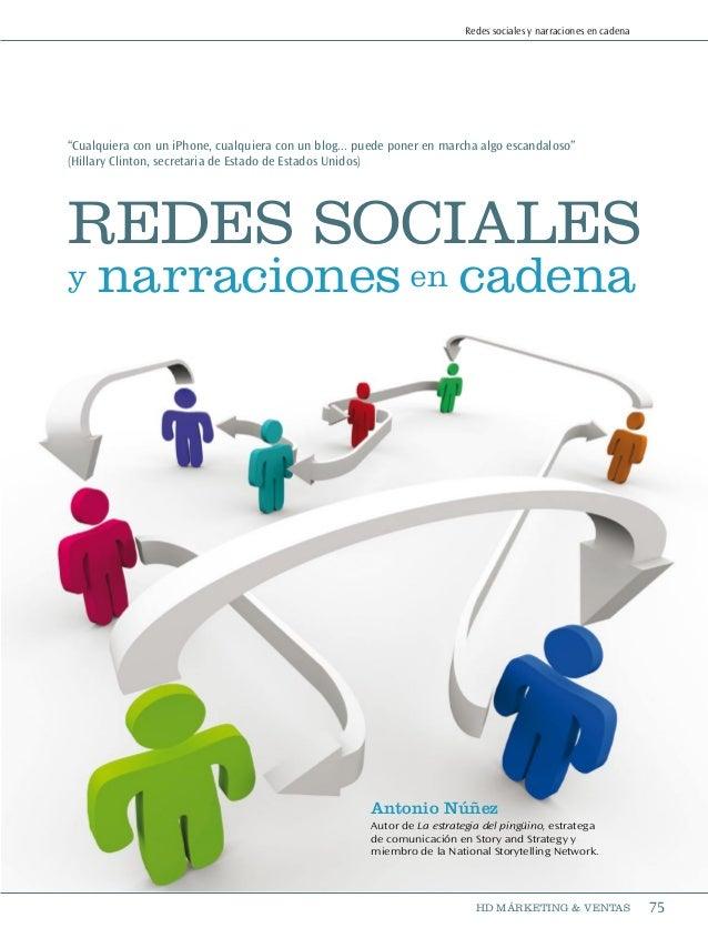 Redes sociales y comunicación en cadena