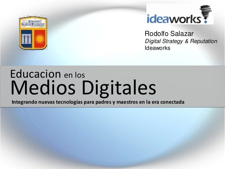 Redes sociales y medios digitales para educacion