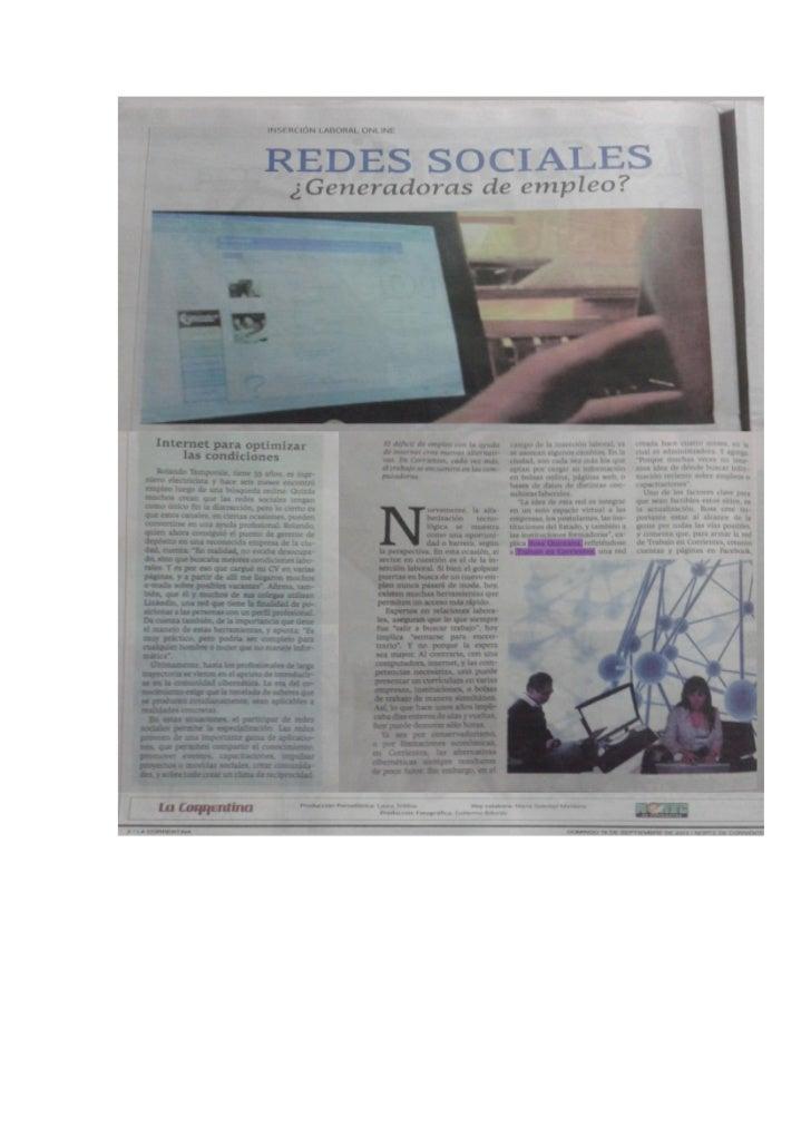 Redes sociales: Generadoras de empleo