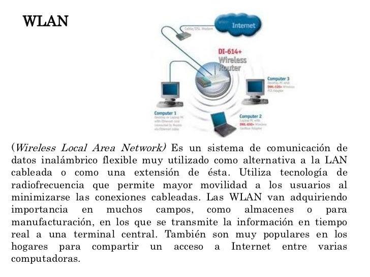 WLAN(Wireless Local Area Network) Es un sistema de comunicación dedatos inalámbrico flexible muy utilizado como alternativ...