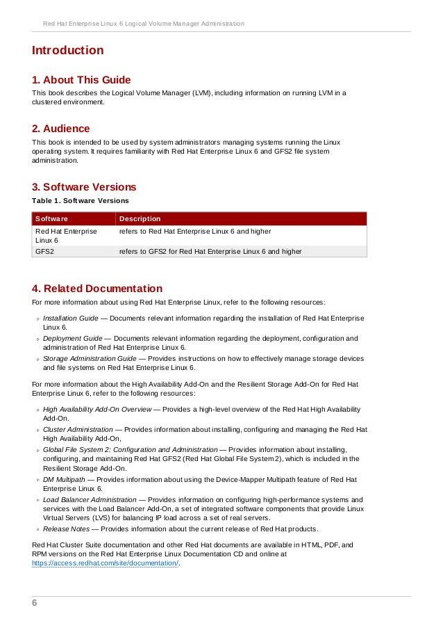 Red hat enterprise linux-6-logical volume manager