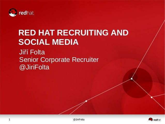 Red Hat recruiting and social media