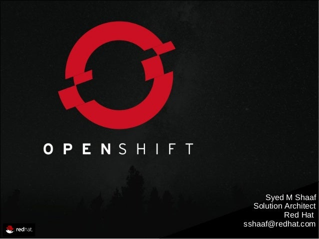 OpenShift and next generation application development