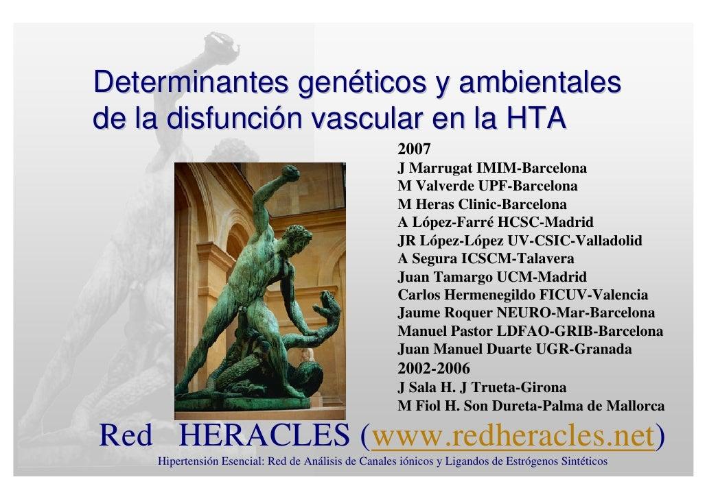 Determinantes genéticos y ambientales de la disfunción vascular en la HTA                                                 ...