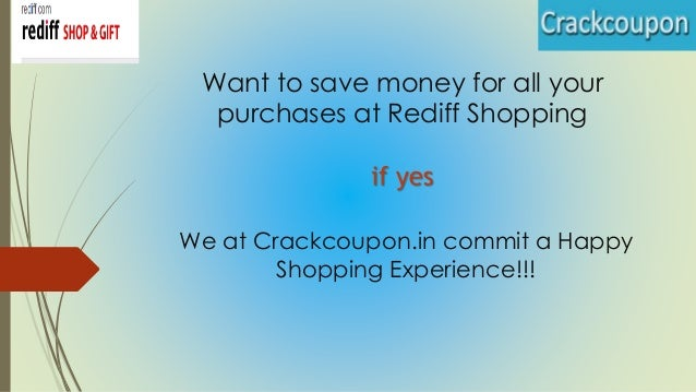 Rediff shopping discount coupons 2018