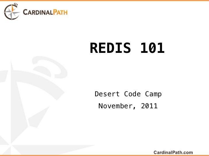 Redis 101