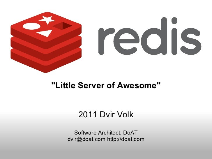 Introduction to redis - version 2