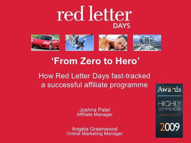 From Zero to Hero: How Red Letter Days Fast-Tracked A Successful Affiliate Programme