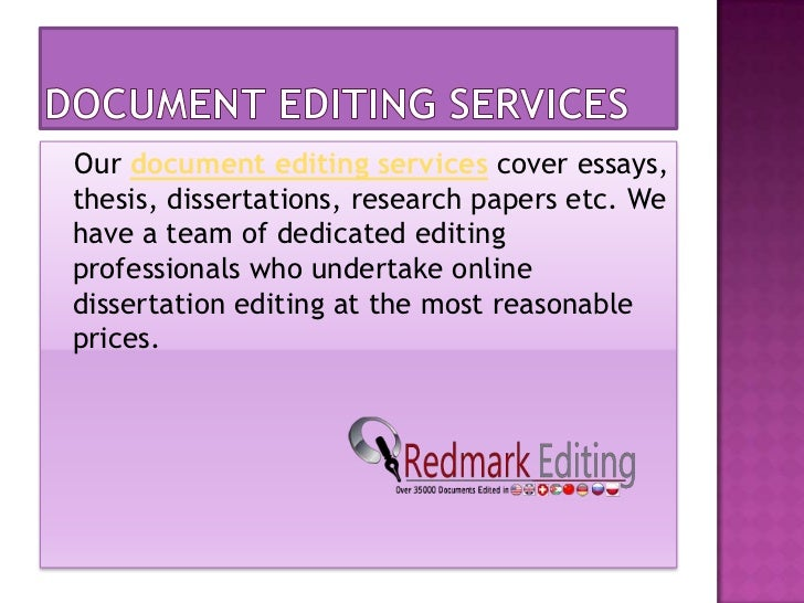 Phd thesis editing service uk