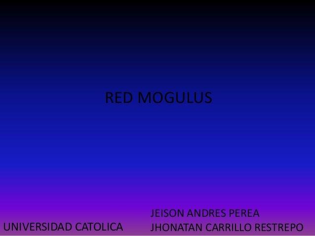 RED MOGULUS JEISON ANDRES PEREA JHONATAN CARRILLO RESTREPOUNIVERSIDAD CATOLICA