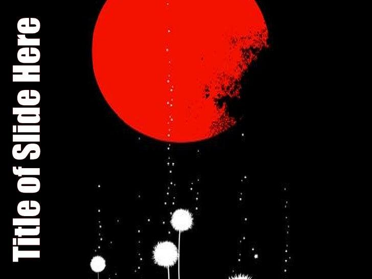 Red Moon Design Slide 1