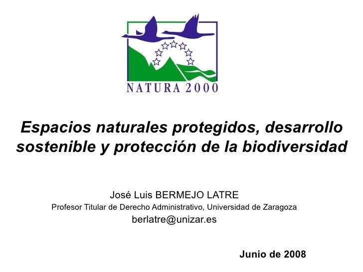 Junio de 2008   José Luis BERMEJO LATRE Profesor Titular de Derecho Administrativo, Universidad de Zaragoza [email_address...