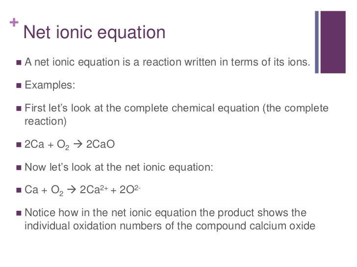 Precipitation Reaction Equations