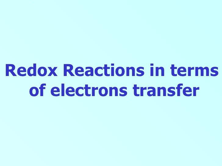 Redox electron transfer