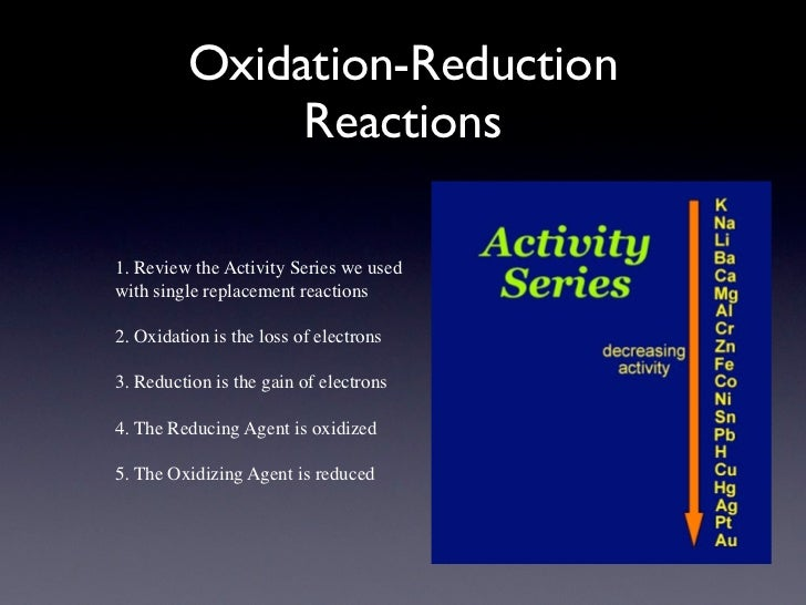 oxidation-reduction or metathesis reactions The olefin metathesis reaction (the subject of 2005 nobel prize in chemistry) can   of a high valent transition metal halide, oxide or oxo-halide with an alkylating.