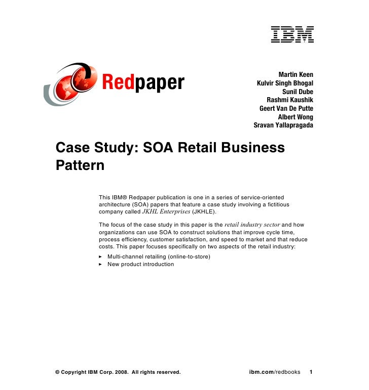Case Study: SOA Retail Business Pattern