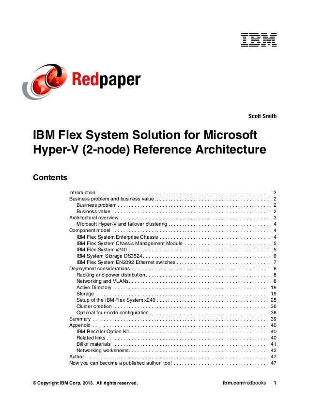 Ibm flex system solution for microsoft hyper v 2 node for Microsoft hyper v architecture