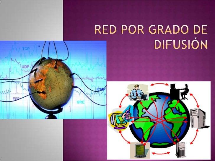 Red por grado de difusión