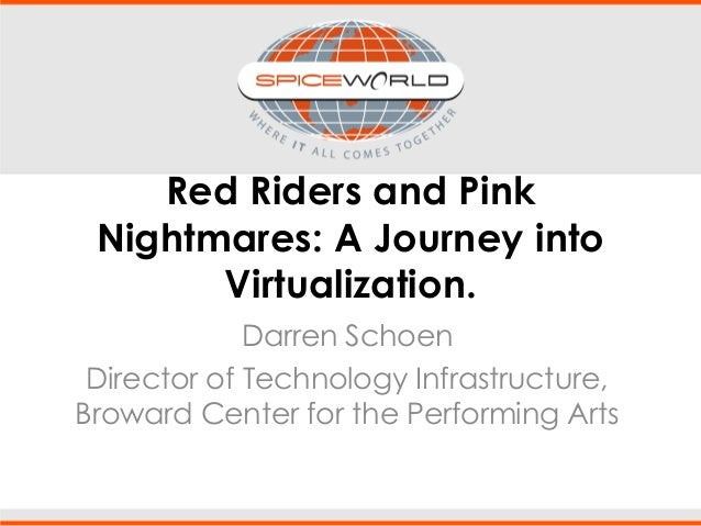 Red Riders and Pink Nightmares: A Journey into Virtualization. Darren Schoen Director of Technology Infrastructure, Browar...