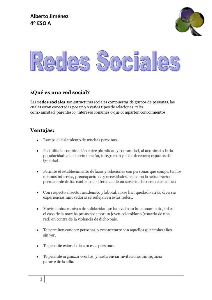 ¿Qué es una red social?<br />Lasredes socialessonestructuras socialescompuestas de grupos de personas, las cuales está...