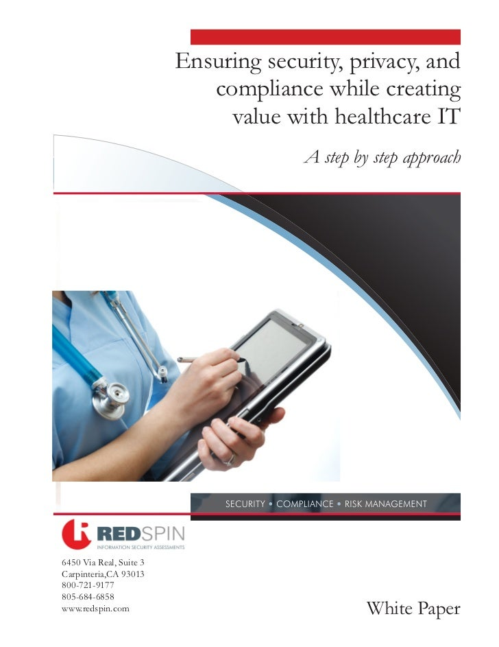 Ensuring Security, Privacy, and Compliance in Healthcare IT - Redspin Information Security
